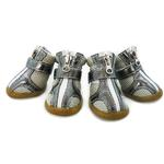 View Image 1 of Sporty Dog Boots - Steel Metallic