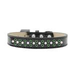 View Image 1 of Sprinkles Ice Cream Dog Collar - Pearl and Green Crystals on Black