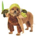 View Image 1 of Star Wars Walking Yoda with Lightsaber Dog Costume