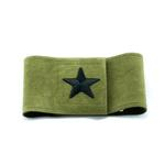 View Image 1 of Star Wizzer Dog Belly Band by Susan Lanci - Olive
