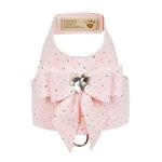 View Image 1 of Stardust Tail Bow Heart Bailey Dog Harness by Susan Lanci - Puppy Pink