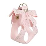 View Image 2 of Stardust Tail Bow Heart Step-In Dog Harness by Susan Lanci - Puppy Pink