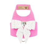 View Image 1 of Stardust White Tail Bow Heart Bailey Dog Harness by Susan Lanci - Perfect Pink