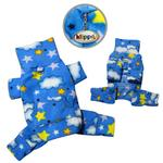 View Image 2 of Stars and Clouds Turtleneck Fleece Dog Pajamas by Klippo