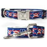 View Image 1 of Stars & Paws Dog Collar and Leash Set by Diva Dog
