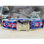 View Image 2 of Stars & Paws Dog Collar and Leash Set by Diva Dog