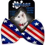 View Image 2 of Stars and Stripes Dog Bow Tie