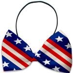 View Image 1 of Stars and Stripes Dog Bow Tie