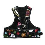 View Image 1 of Step Easy Adjustable Dog Harness - Paisley and Black
