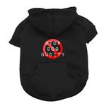 View Image 1 of Stop Dog Nudity Dog Hoodie - Black