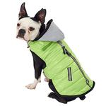 View Image 1 of Stowe Puffer Dog Coat - Green