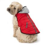 View Image 1 of Stowe Puffer Dog Coat - Red
