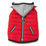 View Image 2 of Stowe Puffer Dog Coat - Red