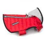 View Image 3 of Stowe Puffer Dog Coat - Red