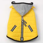 View Image 3 of Stowe Puffer Dog Coat - Yellow