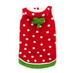 View Image 1 of Strawberry Dog Sweater by Dogo - Red