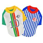 View Image 4 of Striker Soccer Dog Jersey by Puppia - White