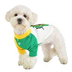 View Image 5 of Striker Soccer Dog Jersey by Puppia - White