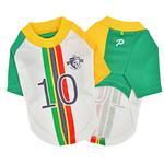 View Image 3 of Striker Soccer Dog Jersey by Puppia - White