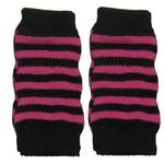 View Image 1 of Striped Dog Leg Warmers - Pink and Black
