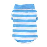View Image 3 of Striped Dog Polo by Doggie Design - Blue Niagara and White