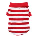 View Image 3 of Striped Dog Polo by Doggie Design - Flame Scarlet Red and White