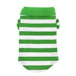 View Image 3 of Striped Dog Polo by Doggie Design - Greenery and White