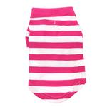 View Image 3 of Striped Dog Polo by Doggie Design - Pink Yarrow and White
