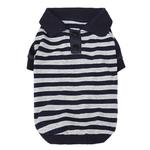 View Image 1 of Striped Dog Polo by Dobaz - Navy and Gray