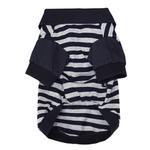 View Image 2 of Striped Dog Polo by Dobaz - Navy and Gray