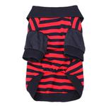 View Image 3 of Striped Dog Polo by Dobaz - Navy and Red