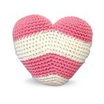 View Image 1 of Striped Heart Crochet Dog Toy by Dogo