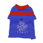 View Image 1 of Studded Paw Dog Shirt by Gooby - Blue