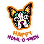 View Image 2 of Sugar Skull Happy Howl-O-Ween Dog Shirt - White