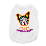 View Image 1 of Sugar Skull Happy Howl-O-Ween Dog Shirt - White