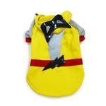 View Image 2 of Super Hero Dog Sweatshirt by Dogo - Yellow