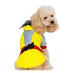 View Image 3 of Super Hero Dog Sweatshirt by Dogo - Yellow
