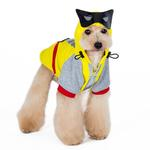 View Image 1 of Super Hero Dog Sweatshirt by Dogo - Yellow