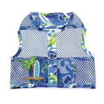 View Image 2 of Surfboard Blue and Green Cool Mesh Dog Harness with Matching Leash by Doggie Design