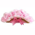 View Image 1 of Victorian Lace Pirate Dog Hat - Pink