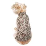 View Image 1 of Animal Instincts Mock Turtleneck Dog Sweater by The Dog Squad - Brown Leopard