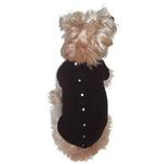 View Image 1 of Cannes Cardigan Dog Sweater by The Dog Squad - Black