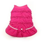 View Image 1 of Sweet Winter Dog Coat by Dogo - Pink