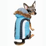 View Image 1 of Swiss Alpine Ski Dog Vest by Hip Doggie - Blue