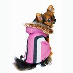 View Image 1 of Swiss Alpine Ski Dog Vest by Hip Doggie - Pink