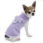 View Image 2 of Take A Bow Dog Sweater by Oscar Newman - Violet