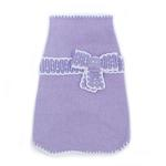 View Image 1 of Take A Bow Dog Sweater by Oscar Newman - Violet