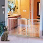 View Image 2 of Tall One-Touch Dog Gate II Wide - Origami White