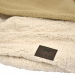 View Image 2 of Tall Tails 3 in 1 Dog Blanket Bed - Cream Bone Sherpa