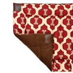 View Image 1 of Tall Tails Fleece Blanket Top Dog Bed - Red Bone